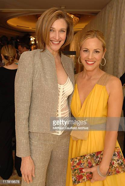 Brenda Strong and Maria Bello during Diamond Information Center and In Style Magazine Host The 5th Annual Awards Season Diamond Fashion Show Red...