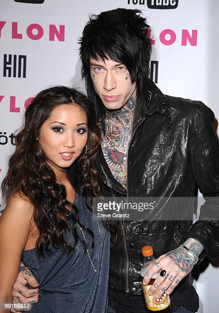 Brenda Strong and Trace Cyrus attends Nylon Magazine's Young Hollywood Party at Tropicana Bar at The Hollywood Rooselvelt Hotel on May 12, 2010 in...