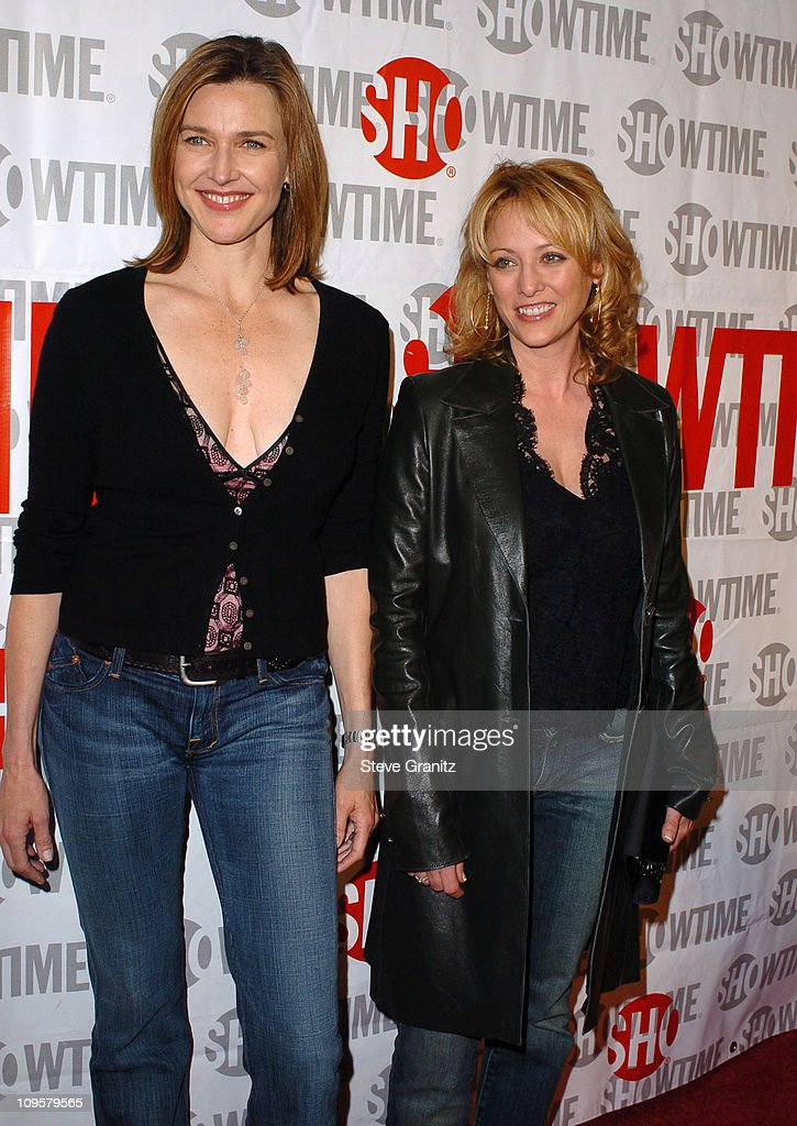 Brenda Strong and Virginia Madsen during 'Reefer Madness' Showtime Networks Los Angeles Premiere - Arrivals at Regent Showcase Cinemas in Hollywood, California, United States.