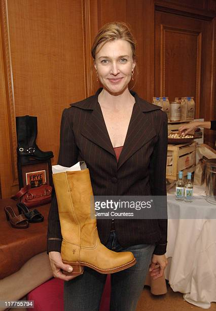 Brenda Strong at the Fyre gift station during Lucky/Cargo Club Day 1 at Ritz Carlton in New York City New York United States