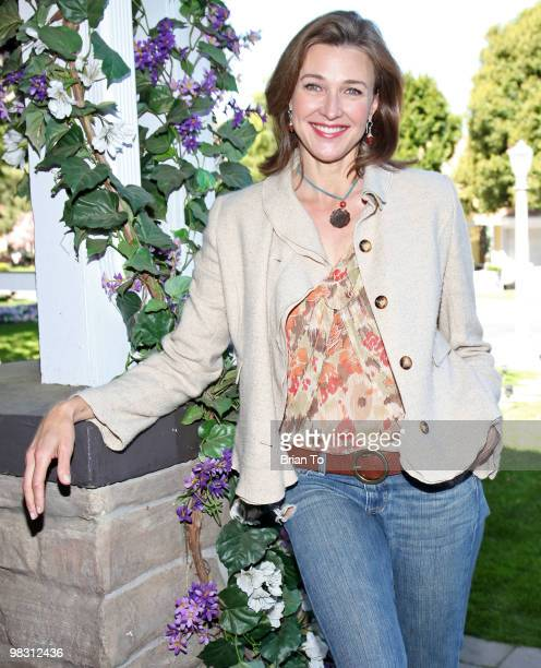 Brenda Strong attends 'Child Hunger Ends Here' neighborhood celebrity rally on Wisteria Lane at NBC Universal lot on April 7 2010 in Universal City...