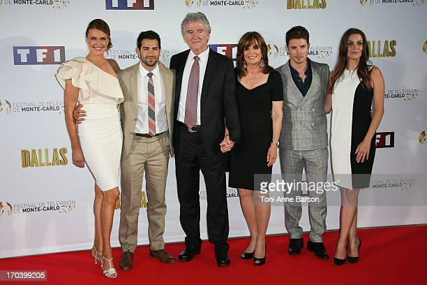 Brenda Strong Jesse Metcalfe Patrick Duffy Linda Gray Josh Henderson and Julie Gonzalo attend Dallas Party at the Monte Carlo Bay Hotel on June 12...