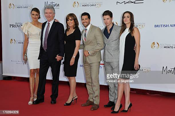 Brenda Strong Patrick Duffy Linda Gray Jesse Metcalfe Josh Henderson and Julie Gonzalo attend the 'Dallas' photocall during the 53rd MonteCarlo TV...