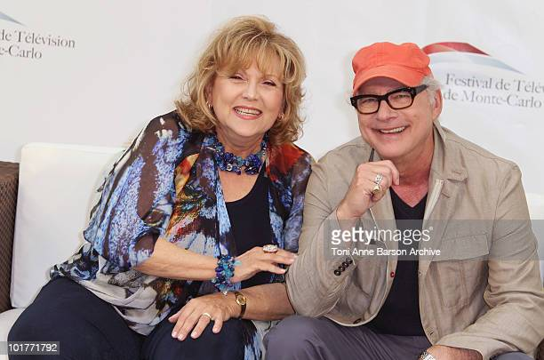 Brenda Vaccaro and Barry Levinson attend a photocall at the Grimaldi Forum on June 7 2010 in MonteCarlo Monaco