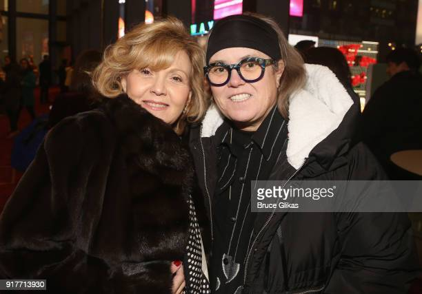 Brenda Vaccaro and Rosie O'Donnell pose at the 'Thoroughly Modern Millie' 15th Anniversary Reunion Concert at The Minskoff Theater on February 12...