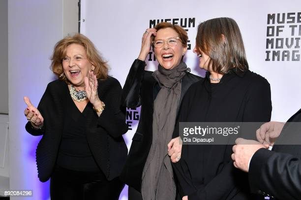 Brenda Vaccaro Annette Bening and Cherry Jones attend the Museum of the Moving Image Salute to Annette Bening at 583 Park Avenue on December 13 2017...