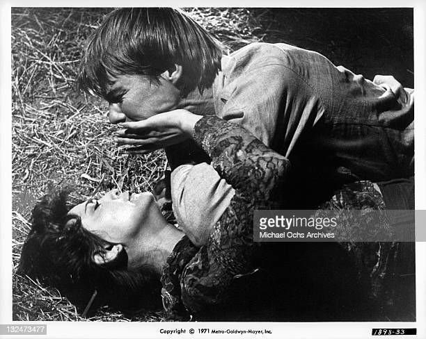 Brenda Vaccaro pushes away JanMichael Vincent who attempts to rape her in a scene from the film 'Going Home' 1971