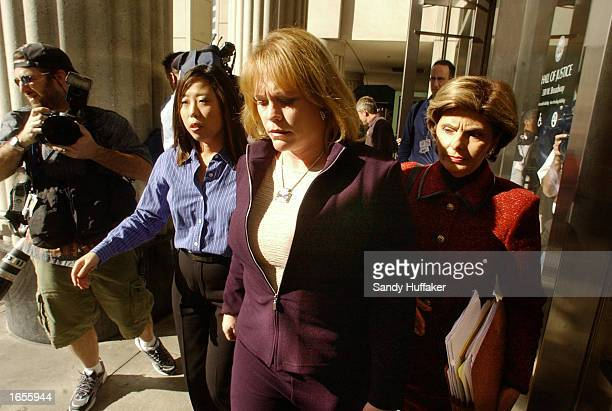 Brenda van Dam the mother of Danielle van Dam a sevenyearold child murdered earlier this year walks out of the San Diego Superior Courthouse November...