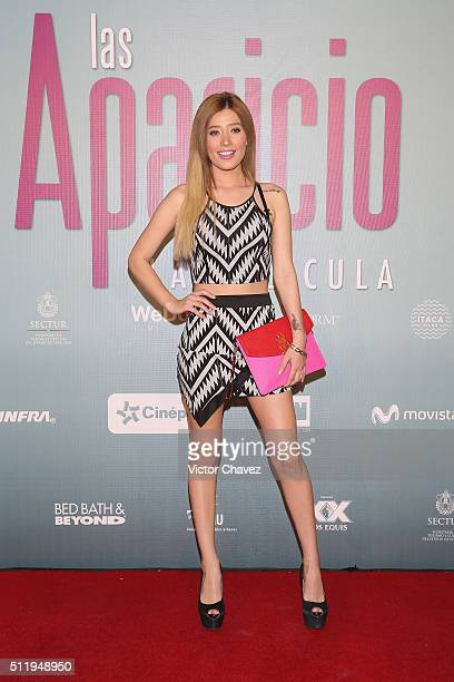 Brenda Zambrano attends Las Aparicio Mexico City premiere at Cinepolis Plaza Universidad on February 23 2016 in Mexico City Mexico