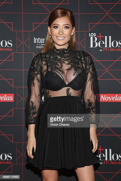 Brenda Zambrano attends Los Bellos de TvYNovelas 2016 at Bosque de Chapultepec on August 31 2016 in Mexico City Mexico