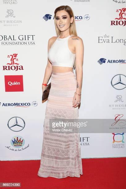 Brenda Zambrano attends The Global Gift Gala Mexico 2017 at St Regis Hotel on November 1 2017 in Mexico City Mexico