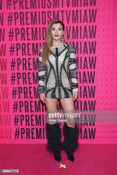 Brenda Zambrano of Acapulco Shore attends the MTV MIAW Awards 2018 at Arena Ciudad de Mexico on June 2 2018 in Mexico City Mexico