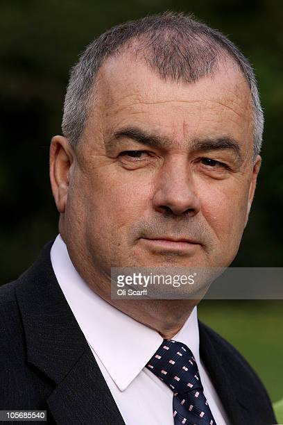 Brendan Barber the General Secretary of the TUC takes part in a protest in front of Parliament on October 19 2010 in London England The Chancellor of...