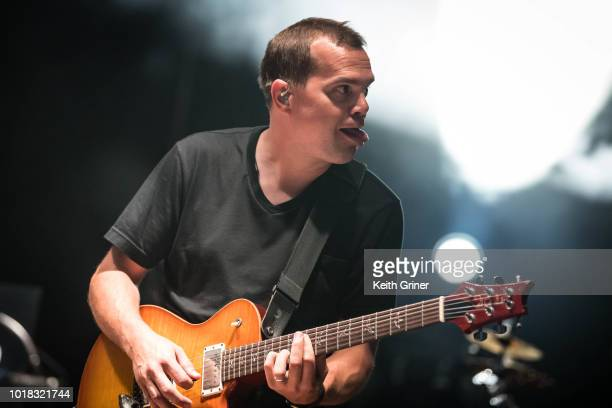 Brendan Bayliss of Umphrey's McGee performs at The Lawn at White River State Park on August 11 2018 in Indianapolis Indiana