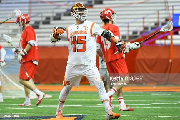 Brendan Bomberry of the Syracuse Orange reacts to a goal against the Cornell Big Red during a 2018 NCAA Division I Men's Lacrosse Championship First...