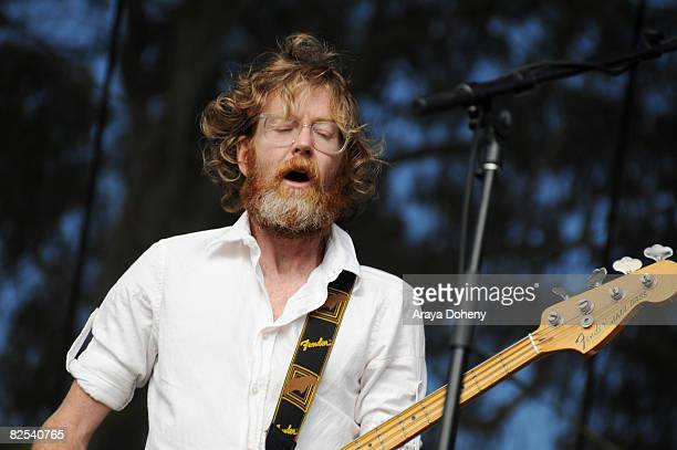 Brendan Canning of Broken Social Scene performs on Day 3 of the Outside Lands Music and Arts Festival on August 24 2008 in San Francisco California