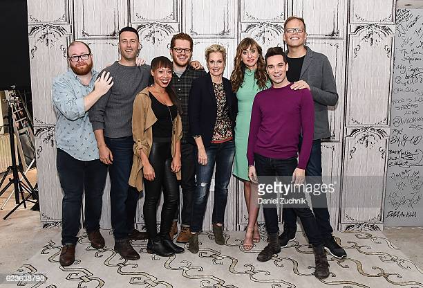 Brendan Clifford Don Fanelli Cherie Rice Jacob Wallach Ali Wentworth Lauren Blumenfeld Karl Gregory and Jeff Hiller attend AOL Build to discuss the...