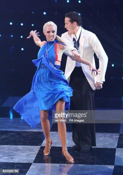 Brendan Cole and Camilla Dallerup star in the Eurovision Dance contest at the BBC Television Centre in London