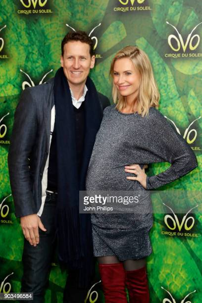 Brendan Cole and his wife Zoe Hobbs attend the Cirque du Soleil OVO premiere at Royal Albert Hall on January 10 2018 in London England