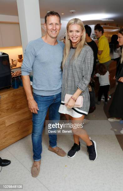 Brendan Cole and Nadiya Bychkova attend Fifi Fest hosted by Tamara Ecclestone at Cloud Twelve private members club to promote her baby and kids care...
