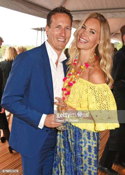 Brendan Cole and Zoe Cole attend the Audi Polo Challenge at Coworth Park on May 6 2017 in Ascot United Kingdom