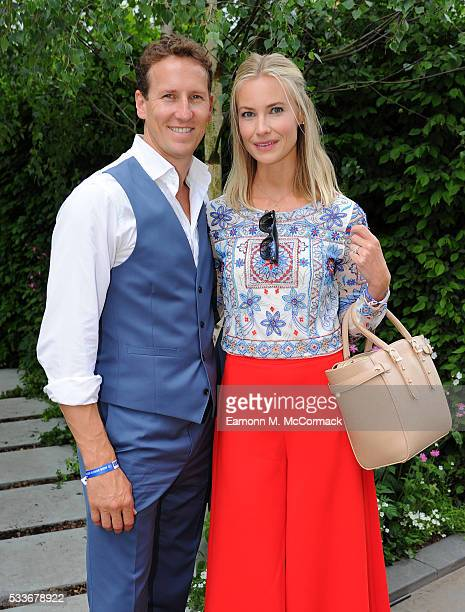 Brendan Cole and Zoe Hobbs attend Chelsea Flower Show press day at Royal Hospital Chelsea on May 23 2016 in London England The prestigious gardening...