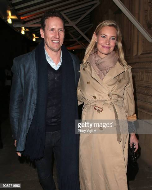 Brendan Cole and Zoe Hobbs attend OVO by Cirque du Soleil at Royal Albert Hall on January 10 2018 in London England