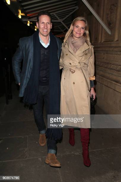 Brendan Cole and Zoe Hobbs attend OVO by Cirque du Soleil press night at Royal Albert Hall on January 10 2018 in London England