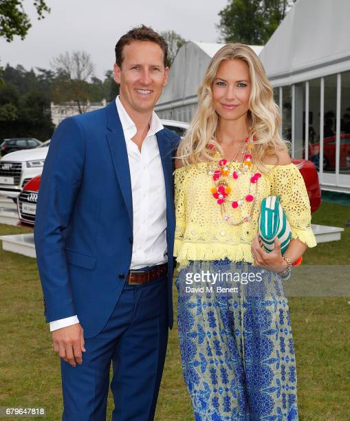 Brendan Cole and Zoe Hobbs attend the Audi Polo Challenge at Coworth Park on May 6 2017 in Ascot United Kingdom