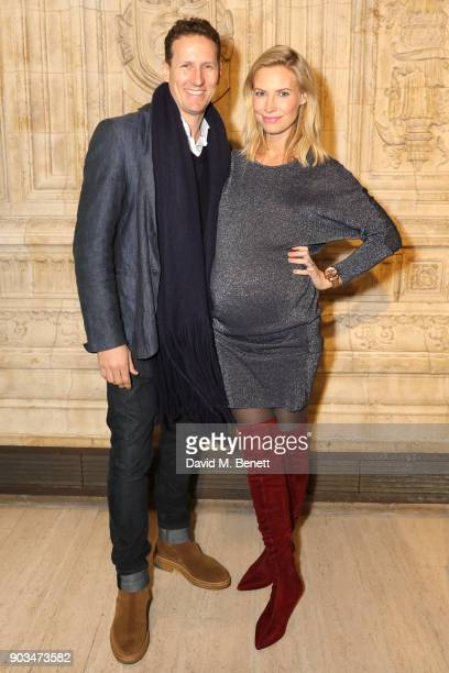 Brendan Cole and Zoe Hobbs attend the Opening Night performance of 'Cirque Du Soleil OVO' at the Royal Albert Hall on January 10 2018 in London...