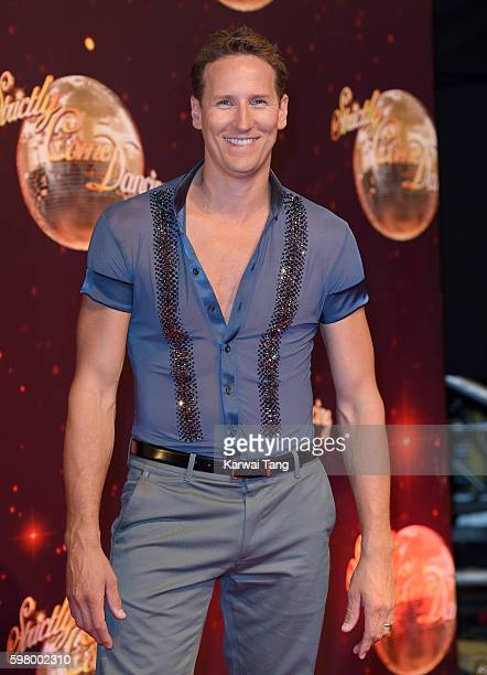 Brendan Cole arrives for the Red Carpet Launch of 'Strictly Come Dancing 2016' at Elstree Studios on August 30 2016 in Borehamwood England