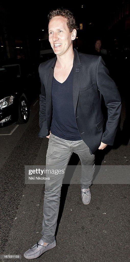 Brendan Cole sighting in Mayfair on April 25, 2013 in London, England.