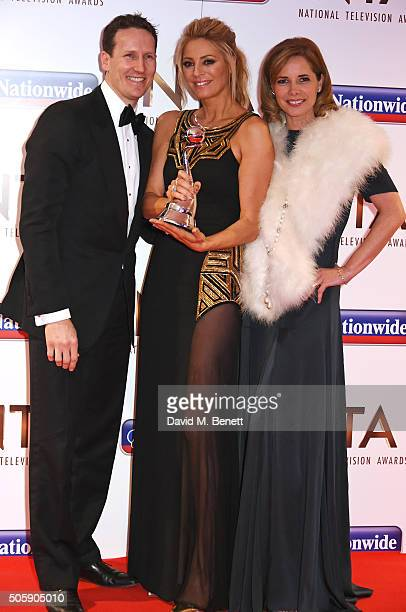 Brendan Cole Tess Daly and Darcey Bussell accept the Best Talent Show award for 'Strictly Come Dancing' at the 21st National Television Awards at The...