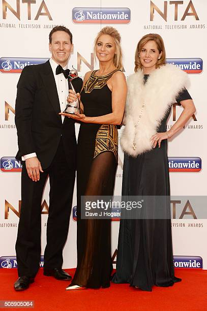 Brendan Cole Tess Daly and Darcey Bussell with the award for Talent Show during the 21st National Television Awards at The O2 Arena on January 20...
