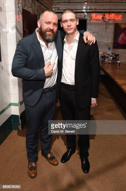 Brendan Cowell and Billy Howle attend the press night after party for 'Life of Galileo' in The Cut Bar at The Young Vic on May 16 2017 in London...