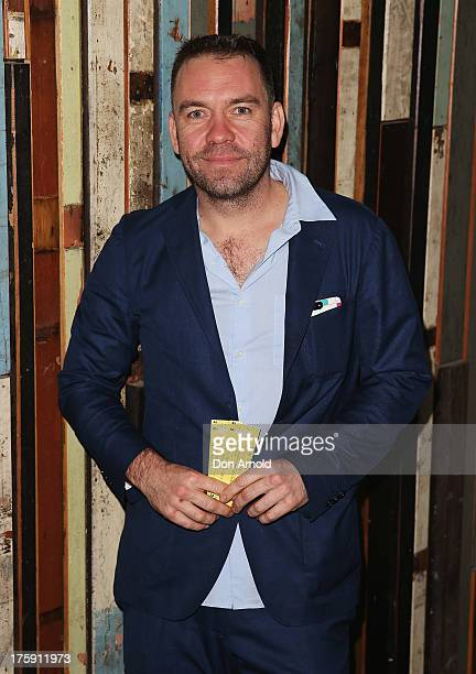 Brendan Cowell arrives at the opening night of Rosencrantz Guildenstern are Dead at the Sydney Theatre Company on August 10 2013 in Sydney Australia