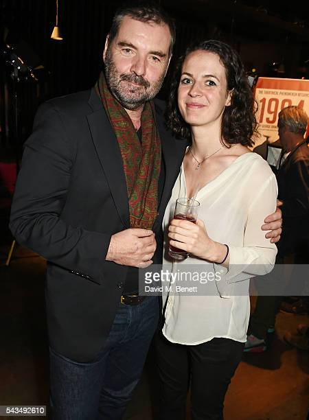 Brendan Coyle and Georgia Winters attend the press night after party for 1984 at The Mint Leaf on June 28 2016 in London England