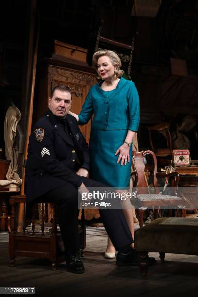 Brendan Coyle and Sara Stewart during a photocall for The Price at Wyndhams Theatre on February 07 2019 in London England