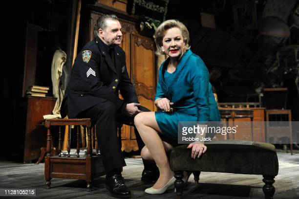 Brendan Coyle as Victor Franz and Sara Stewart as Esther Franz in Theatre Royal Bath's production of Arthur Miller's The Price directed by Jonathan...