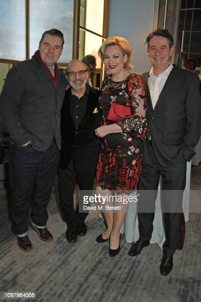 Brendan Coyle David Suchet Sara Stewart and Adrian Lukis attend the press night after party for The Price at The National Cafe on February 11 2019 in...