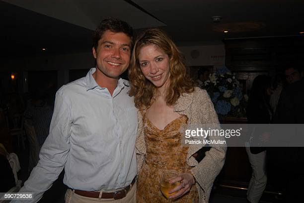 Brendan Dillon and Melissa Berkelhammer attend Dinner to celebrate artist Wanda Murphy's new exhibition at Nello's on July 16 2005 in Southampton NY