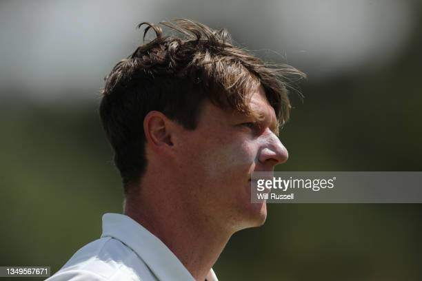 Brendan Doggett of South Australia leaves the field injured whilst bowling during day two of the Sheffield Shield match between Western Australia and...