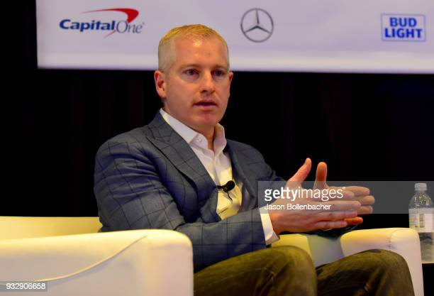 Brendan Donohue speaks onstage at Hoops and Gaming Why the NBA Started an Esports League during SXSW at Austin Convention Center on March 16 2018 in...