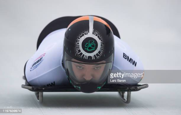 Brendan Doyle of Ireland competes during the BMW IBSF Skeleton World Cup at Veltins Eis-Arena on January 05, 2020 in Winterberg, Germany.