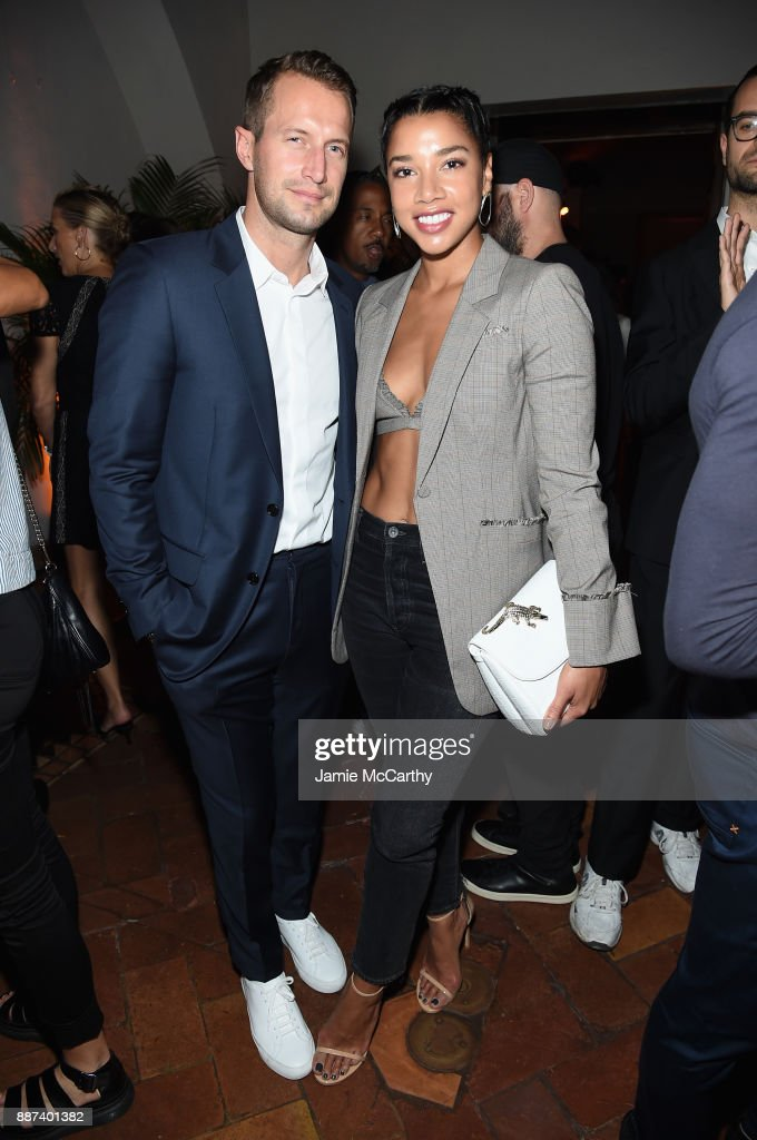 Brendan Fallis and Hannah Bronfman attend the Artsy Projects Miami x Gucci: Special Thanks to Bombay Sapphire at The Bath Club on December 6, 2017 in Miami Beach, Florida.