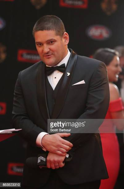 Brendan Fevola arrives ahead of the 2017 Brownlow Medal at Crown Entertainment Complex on September 25 2017 in Melbourne Australia