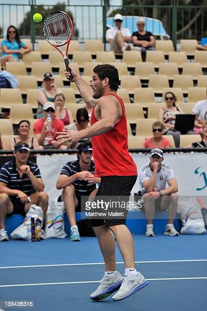 Brendan Fevola during the Australian Open Battle of the Codes at Melbourne Park on December 10 2011 in Melbourne Australia