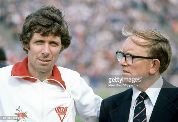 Brendan Foster Great Britain longdistance runner and founder of the Great North Run with his coach Stan Long circa June 1979
