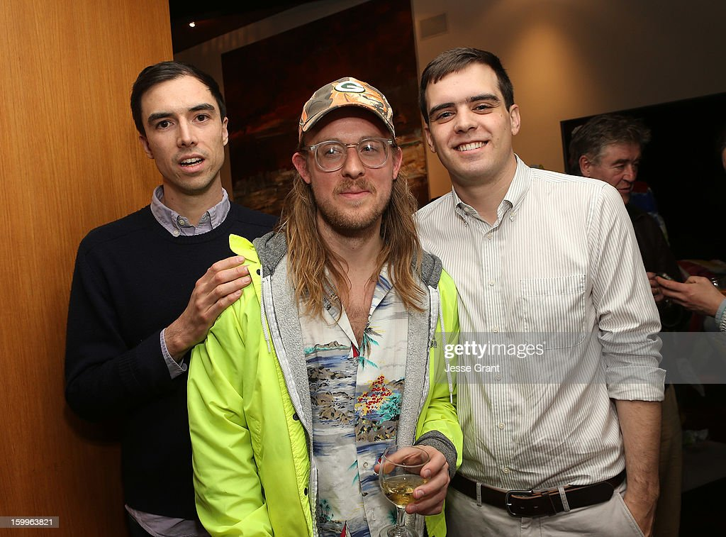 Brendan Fowler, John Riepenhoff and Forrest Nash attend the Art Los Angeles Contemporary Reception at the home of Gail and Stanley Hollander on January 23, 2013 in Los Angeles, California.