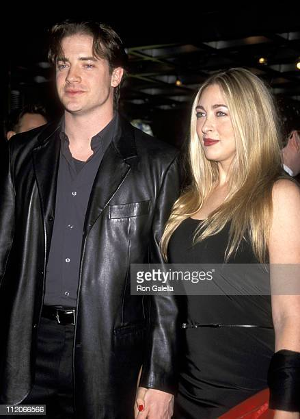 Brendan Fraser and Afton Smith during 'Saturday Night Live' 25th Anniversary in New York City New York United States
